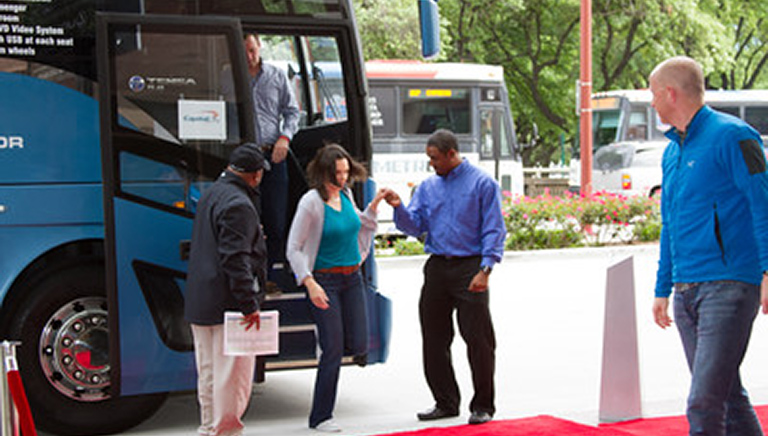 Red-carpet-bus-arrival